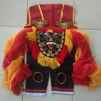 Kostum set baju bujang ganong reog Ponorogo pakaian penari ganong