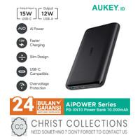 AUKEY POWERBANK 10000MAH USB + TYPE C 15W FAST CHARGING AIQ PB-XN10