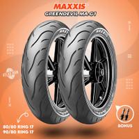 Paket Ban Motor Bebek MAXXIS GREENDEVIL MA-G1 90/80 - 100/80 Ring 17