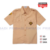 Baju Pramuka Penggalang SD SMP SMA Lengan Pendek - Seragam Sekolah