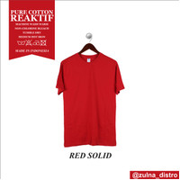 baju kaos polos distro bandung RED SOLID(merah solid) - M