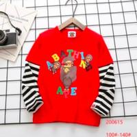Kaos Anak Laki Bape Lengan Panjang Merah Premium Quality - Merah, 120 ( 5-6y )
