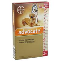 ADVOCATE FOR DOGS SIZE L (HARGA 1 TUBE) - UNTUK ANJING BERAT 10-25KG