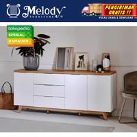 Furniture Sideboard Buffet Lemari Serbaguna - Libre SB 180cm - WH