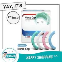 Hair Net Penutup Kepala Head Mob Surgical Shower Nurse Cap Hijau Putih