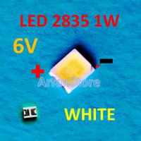 Led SMD 2835 6V 1W 150mA White Backlight TV LED LCD Lampu Putih