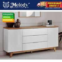 Furniture Sideboard Buffet Lemari Serbaguna - Libre SB 160cm - WH