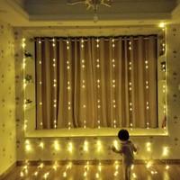 Lampu Dekorasi Pesta Ulang Tahun Dinding Waterfall 9 m2 - Warm White