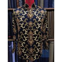Baju Batik Pria Lengan Panjang Bahan Sutra Halus Premium