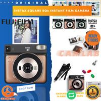 Fujifilm Instax Square Sq6 Instant Film Camera Free Polaroid Paper - Gold NON PAPER