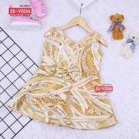 Dress Keira uk 6-12 Bulan / Gaun Brukat Pesta Kondangan Baju Baby Girl
