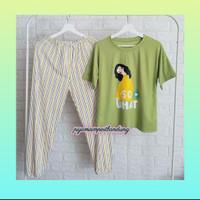 Baju tidur import,piyama dewasa Garfield CP Baju tidur wanita Murah