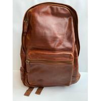 Tas ransel pria original fossil estate backpack cognac brown