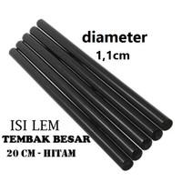 Lem Bakar besar 11mm x 20cm Tembak Hitam black sambung rambut glue gun