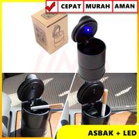 ASBAK MOBIL LED / CAR ASHTRAY / ASBAK ROKOK PORTABLE SERBAGUNA
