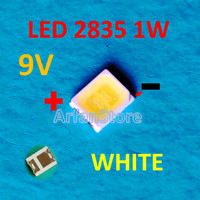Led SMD 2835 9V 1W 100mA White Backlight TV LED LCD Lampu Putih