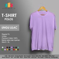 Kaos Polos Baju Pria Kaos Pria Premium Lengan pendek UNGU LILAC