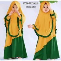 Baju Gamis Anak Perempuan Alesa Kids Hijab Murah Terbaru - Kuning, S