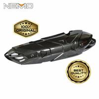 Pelindung / Cover Knalpot Carbon Yamaha Aerox New Original Nemo