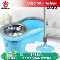 GM Bear Spin Mop Biru 1020 -Ultra Mop Aclima Blue 1020