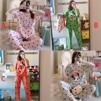 Baju Tidur Setelan Wanita Celana Panjang Motif Anime 2400