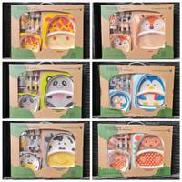 Toys Kingdom Freckles Bamboo Fiber Kids Feeding Set / Alat Makan Anak