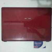 Casing case atas Asus A43S A43SD A43SJ A43E merah
