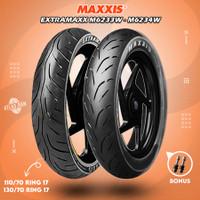 Paket Ban Tubles Motor Moge MAXXIS EXTRAMAXX 110/70 - 130/70 Ring 17