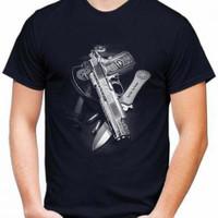 Kaos Pria PISTOL PISAU T-shirt Distro Baju Pria/Oblong Pria