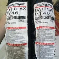 PAKETAN BAN LUAR BATTLAX BRIDGESTONE BT 46 UK 90/90-18 & UK 100/80-18