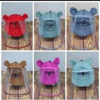 Topi Anti Corona Bayi / Pelindung wajah bayi / face shield bayi - Merah