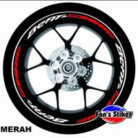 cutting stiker lis roda motor beat ring 14 matic,velg beat murah - mer