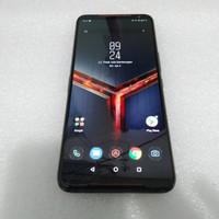 HANDPHONE BEKAS ASUS ROG PHONE 2 ZS660KL (128+8 ) BLACK BATANGAN