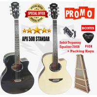 Gitar akustik elektrik model yamaha apx 500i custome - Standar A Krem