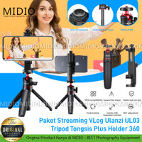 Paket Streaming VLog Ulanzi UL03 Tripod MT08 plus ST17