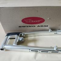 swing arm Rossi Satria FU oval cnc almini lubang model pro