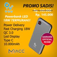 YUU Powerbank 10000MAH Fast Charging 18w LED Display Type C YPB351PQ