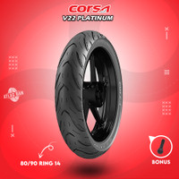 Ban Tubles Motor Matic CORSA V22 PLATINUM 80/90 Ring 14