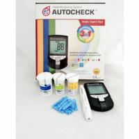 Alat autocheck 3 in 1/alat cek kolesterol, gula darah dan asam urat