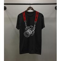 Kaos Distro Pria TP Canon Camera Atasan Pria Kaos Pria T-shirt Pria