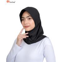 Nisrina Fashion Muslim Bergo Instan Kerja Polos Gadis Alvira - Hitam