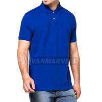 VM Kaos Polo Shirt Jumbo Pendek Hijau Toska - VM-031