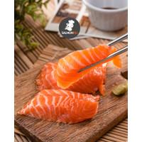 Salmon Sashimi Cut Norway @150gr - FRESH Segar Berkualitas FREE Wasabi