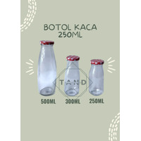 Botol Susu jus Kaca 250 ml Ready stock - 500 ml