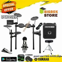 Paket Drum Elektrik Yamaha DTX 452 K + Ampli Hartke HD 25 +Kursi Drum