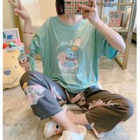 Baju Tidur Setelan Wanita Celana Panjang Motif Variatif 2401 - TypeA