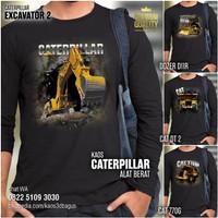 KAOS ALAT BERAT Caterpillar Lengan Panjang Baju Excavator Dozer DT