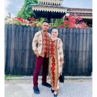 Batik couple songket keong