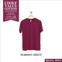 baju kaos polos distro bandung MAROON MISTY(merah hati misty)