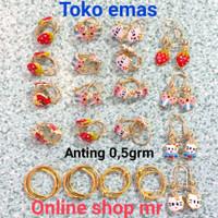 ANTING ANAK EMAS 3OO/375 ANTING 0,5 GRAM CAT WARNA.